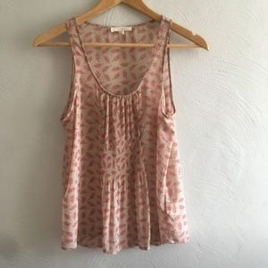 Urban Outfitters Lush Sheer Printed Tank Top